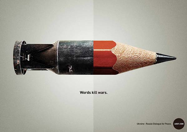 """Words Kill Wars"" Adot Ad Campaign - 图1"