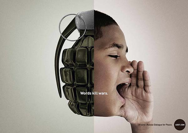 """Words Kill Wars"" Adot Ad Campaign - 图3"