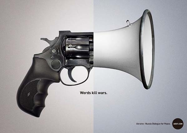 """Words Kill Wars"" Adot Ad Campaign - 图4"