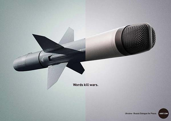 """Words Kill Wars"" Adot Ad Campaign - 图2"