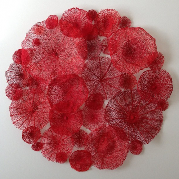Meredith Woolnough的叶脉刺绣 - 图1