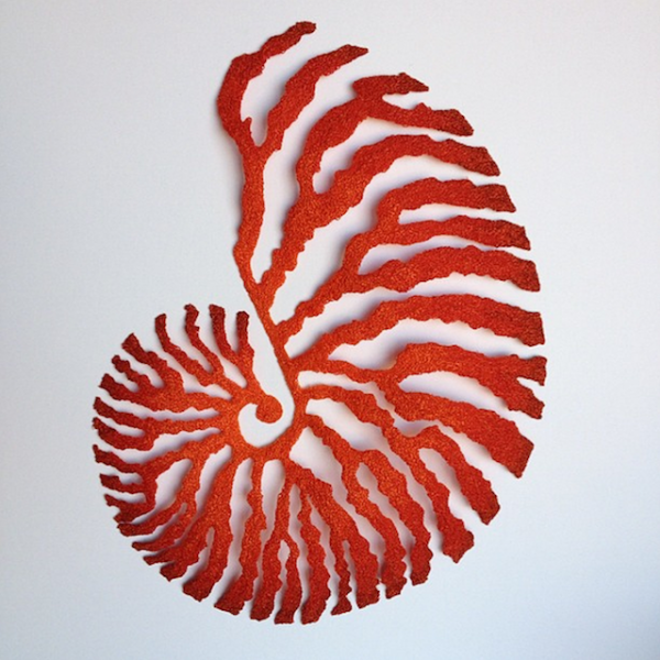 Meredith Woolnough的叶脉刺绣 - 图4