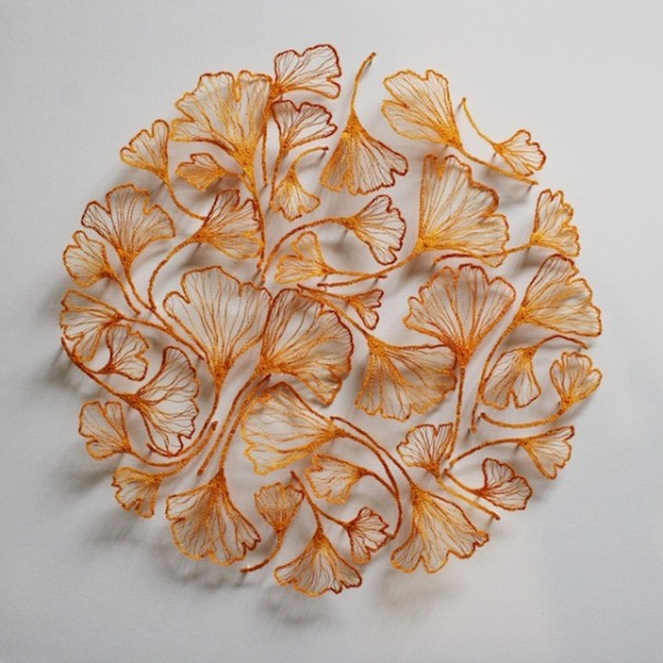 Meredith Woolnough的叶脉刺绣 - 图5