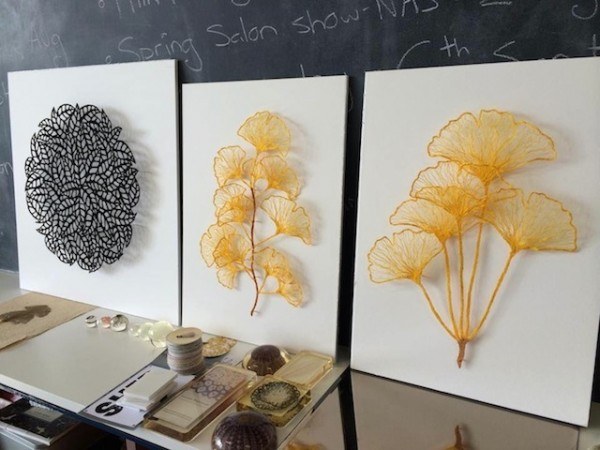 Meredith Woolnough的叶脉刺绣 - 图7