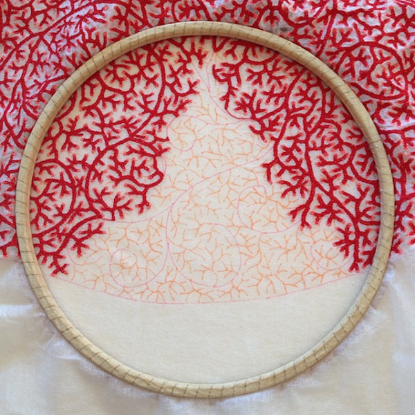 Meredith Woolnough的叶脉刺绣 - 图8